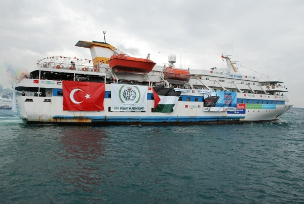 IHH passenger ship MV Mavi Marmara launched in Istanbul, 22 May 2010