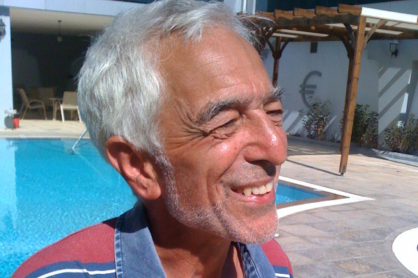 Captain of the Irene, Glyn Secker, now on board the Jewish Boat to Gaza