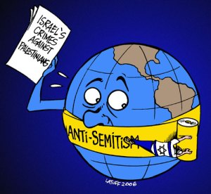 Anti-semitism cartoon by Carlos Latuff